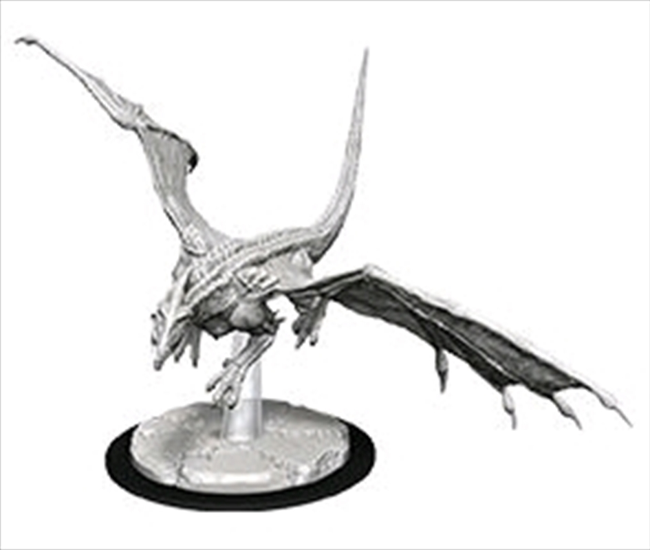 Dungeons & Dragons - Nolzur's Marvelous Unpainted Minis: Unpainted Young White Dragon | Games