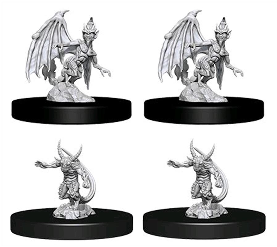 Dungeons & Dragons - Nolzur's Marvelous Unpainted Minis: Unpainted Quasit & Imp   Games