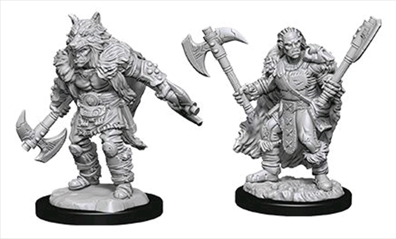 Dungeons & Dragons - Nolzur's Marvelous Unpainted Minis: Unpainted Male Half-Orc Barbarian | Games