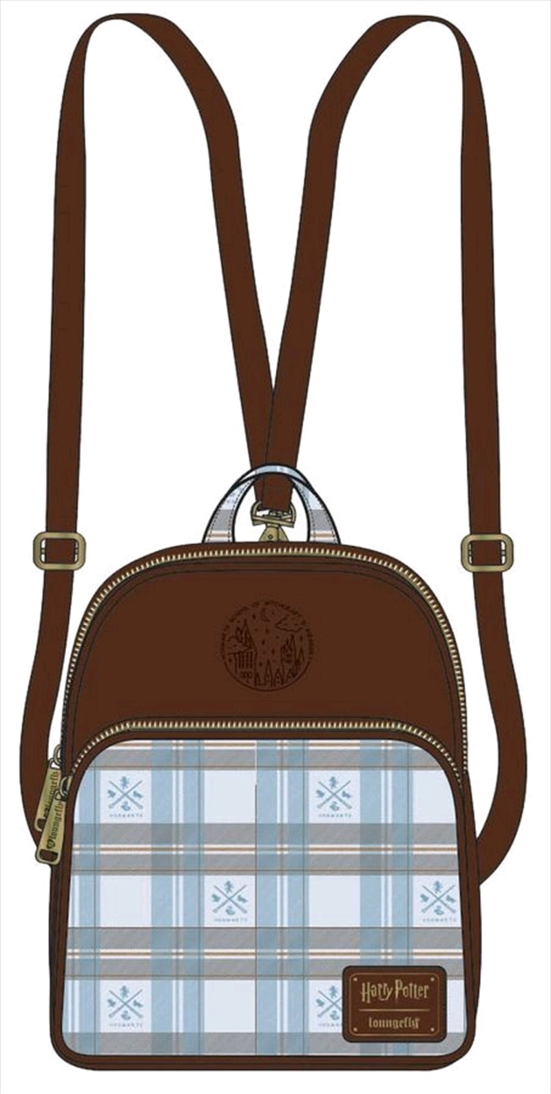 Harry Potter - Blue Check Mini Backpack | Apparel