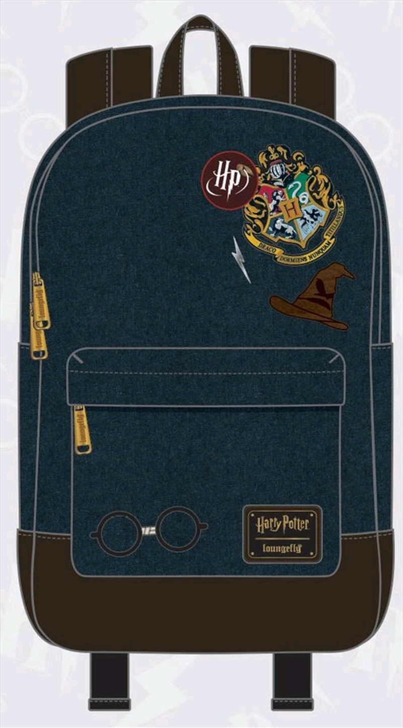 Hogwarts Logo Blue Backpack | Apparel