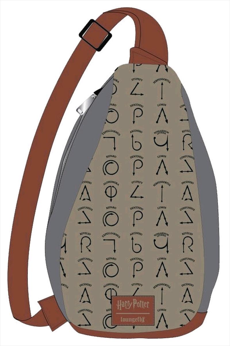 Harry Potter - Spell Symbols Sling Backpack   Apparel