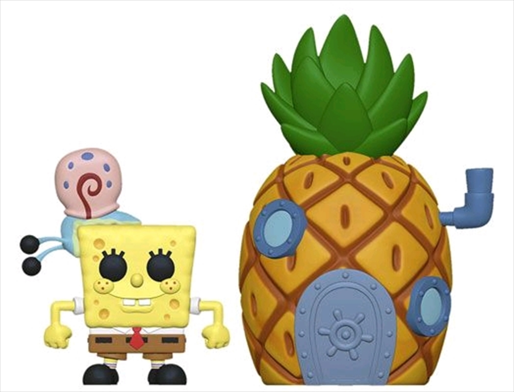 Spongebob - Spongebob with Pineapple Pop! Town | Pop Vinyl