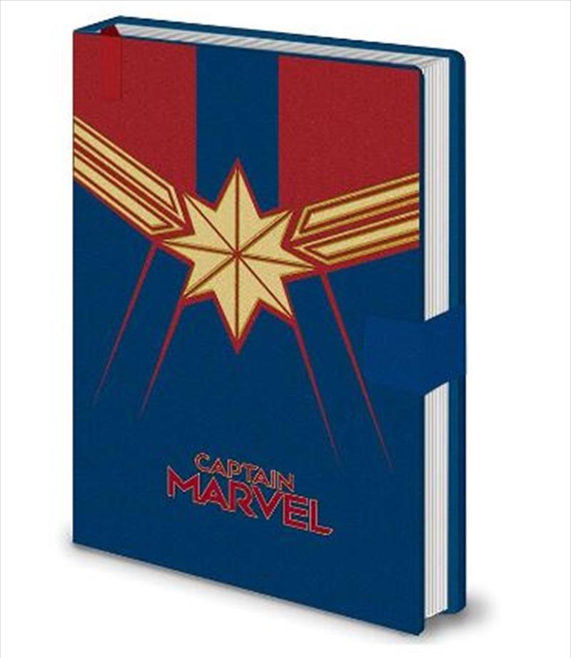 Captain Marvel - Emblem  A5 Notebook | Merchandise