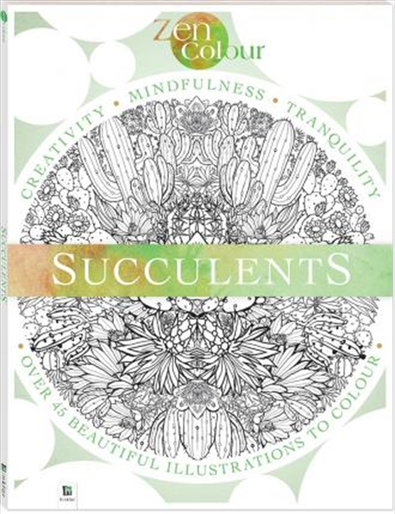 Zen Colour: Succulents | Paperback Book
