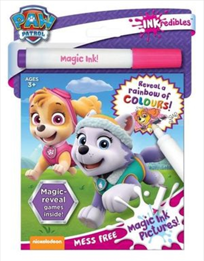 Inkredibles Magic Ink Paw Patrol Pink | Paperback Book
