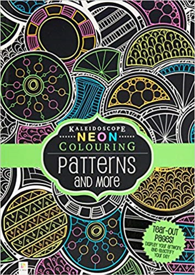 Neon Colouring: Patterns and More | Hardback Book