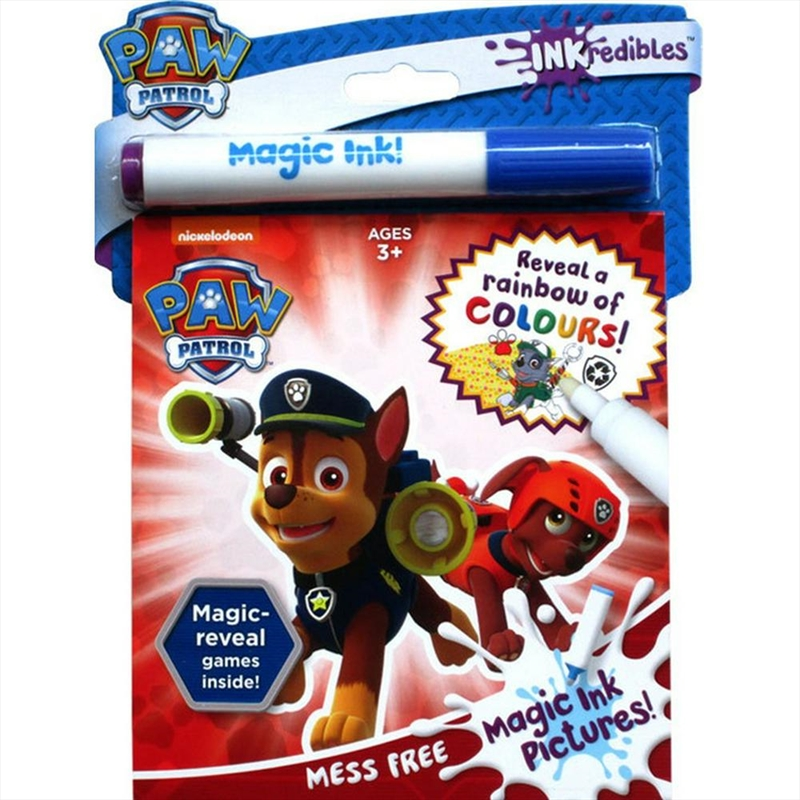 Inkredibles Magic Ink Paw Patrol | Hardback Book