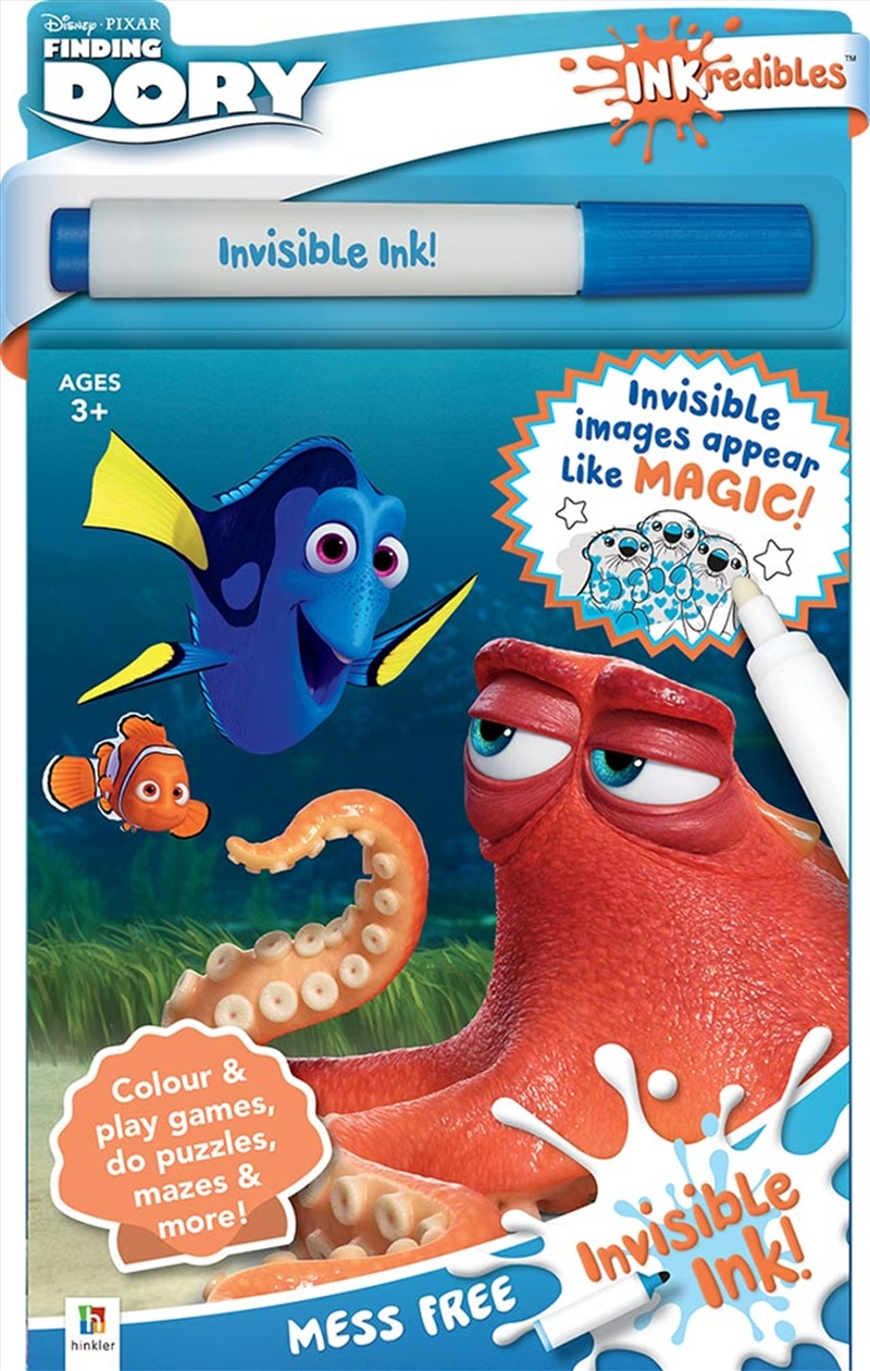 Inkredibles Finding Dory Invisible Ink | Hardback Book