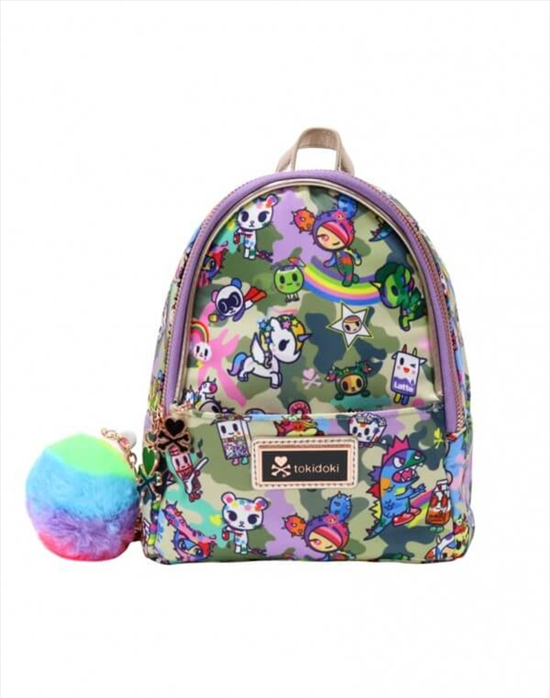 TOKIDOKI Accessories - Camo Kawaii Small Backpack | Apparel