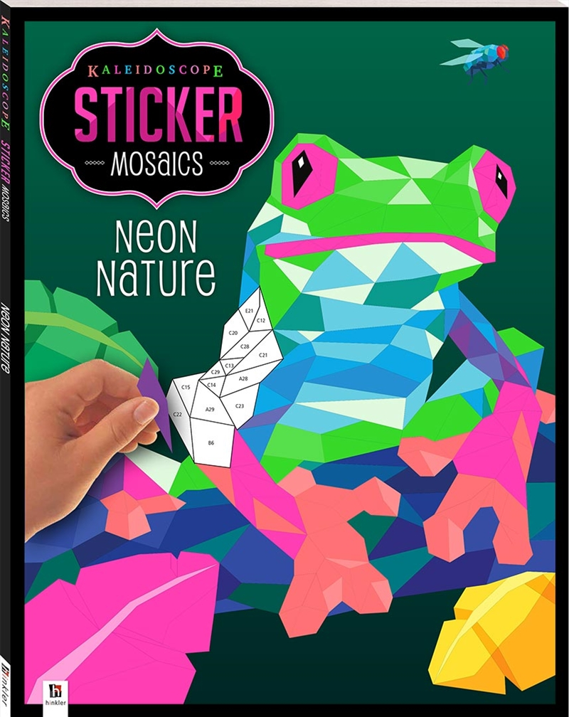 Kaleidoscope Sticker Mosaics: Neon Nature | Hardback Book