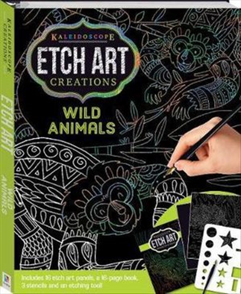 Kaleidoscope Etch Art Creations - Wild Animals and More | Hardback Book