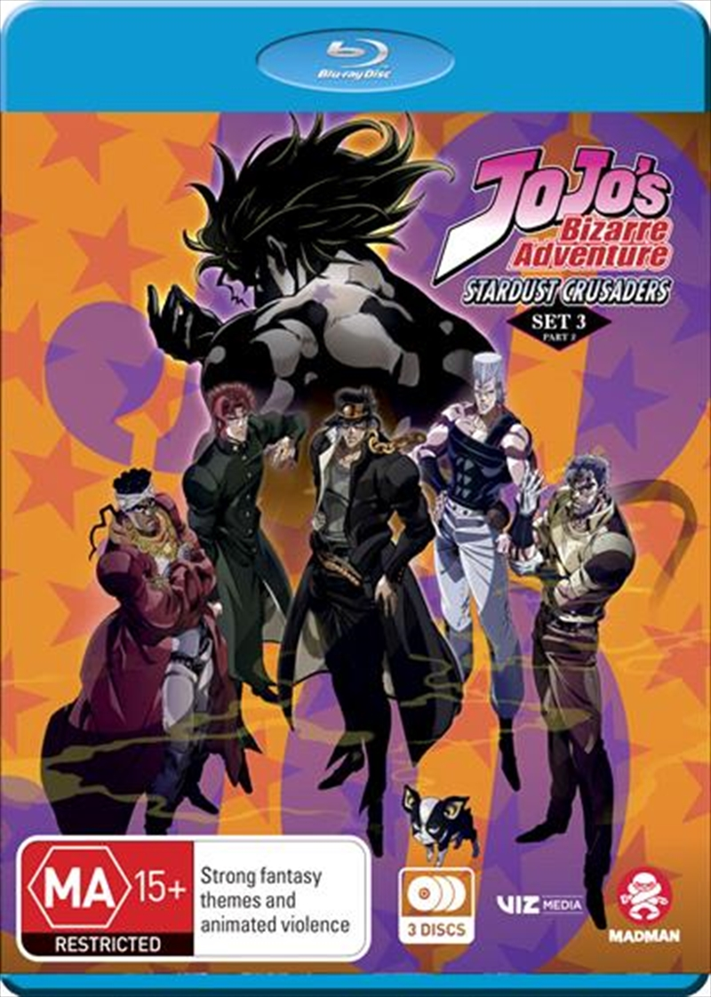 Jojo's Bizarre Adventure - Stardust Crusaders - Set 3 - Part 2 - Eps 25-52 | Blu-ray