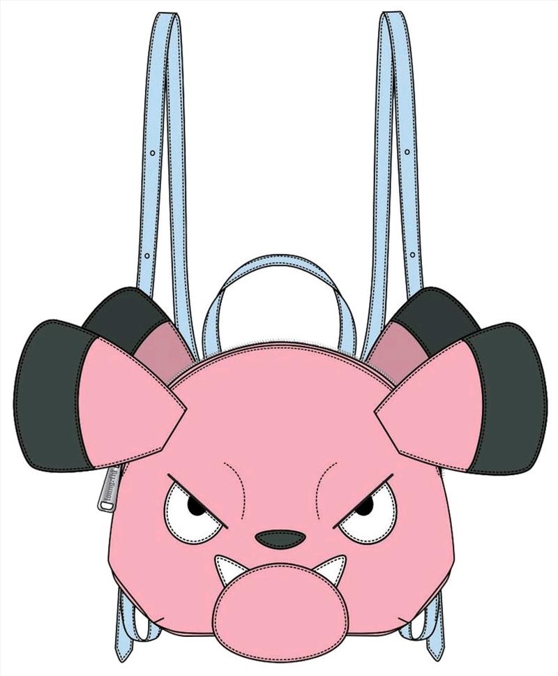 Pokemon - Snubbull Head Mini Backpack   Apparel