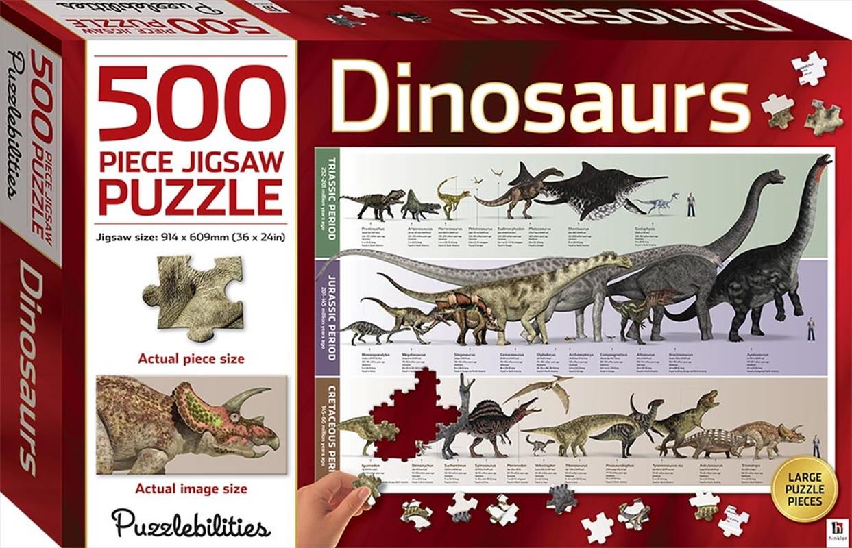 Dinosaurs 500 Piece Jigsaw Puzzle | Merchandise
