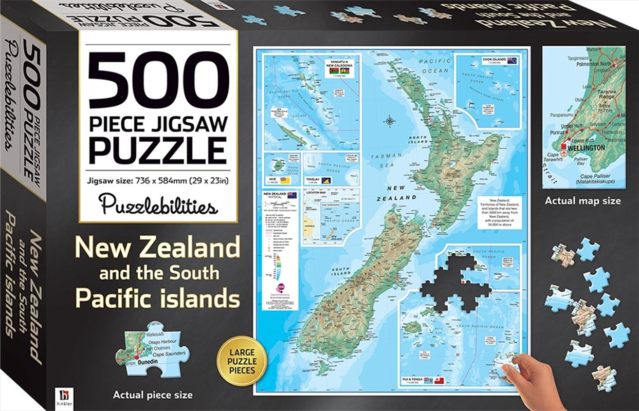 New Zealand 500 Piece Jigsaw Puzzle | Merchandise