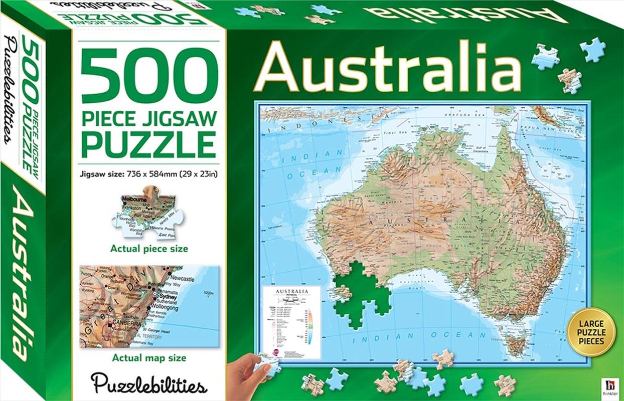Australia 500 Piece Jigsaw Puzzle   Merchandise