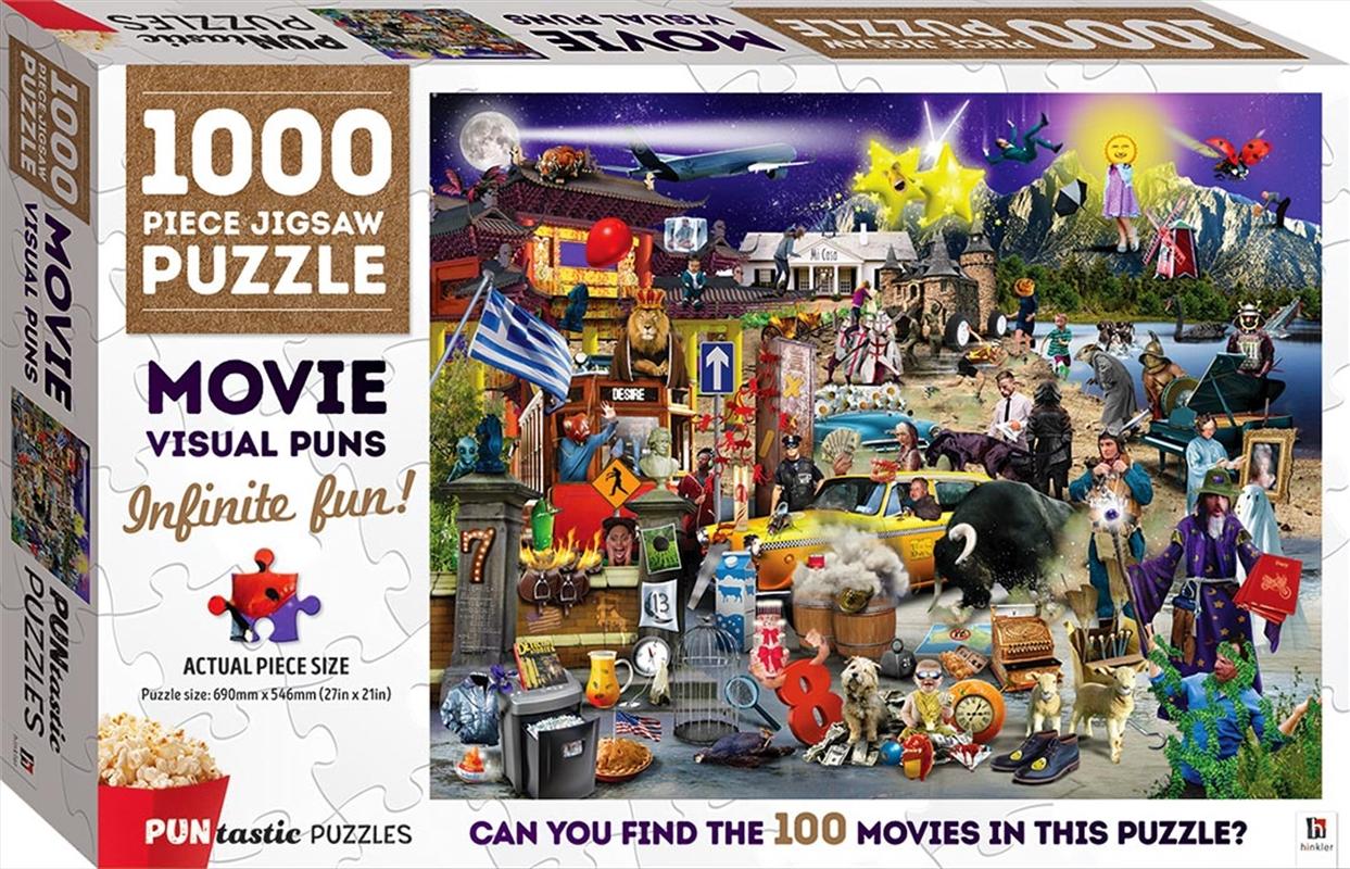 Puntastic Puzzles: Movies 1000-piece Puzzle | Merchandise