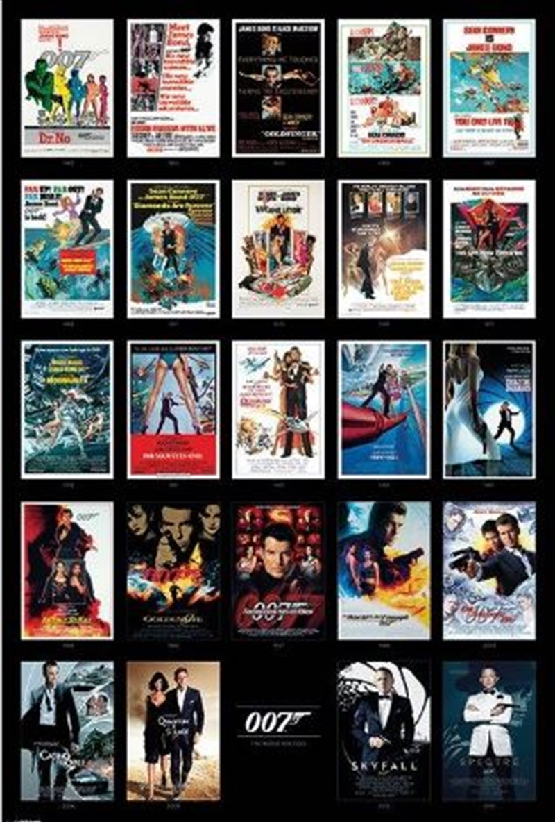 James Bond - Movie Posters | Merchandise