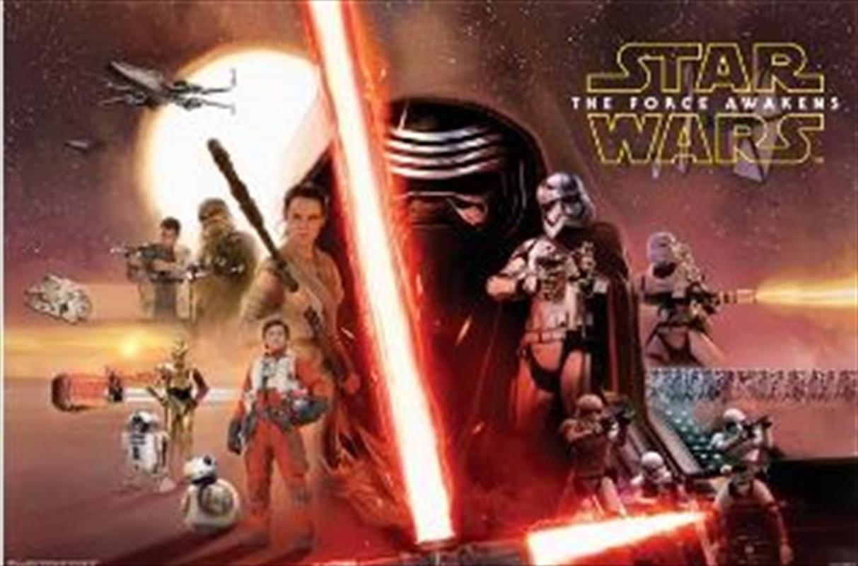Star Wars Episode VII - Collage Poster   Merchandise