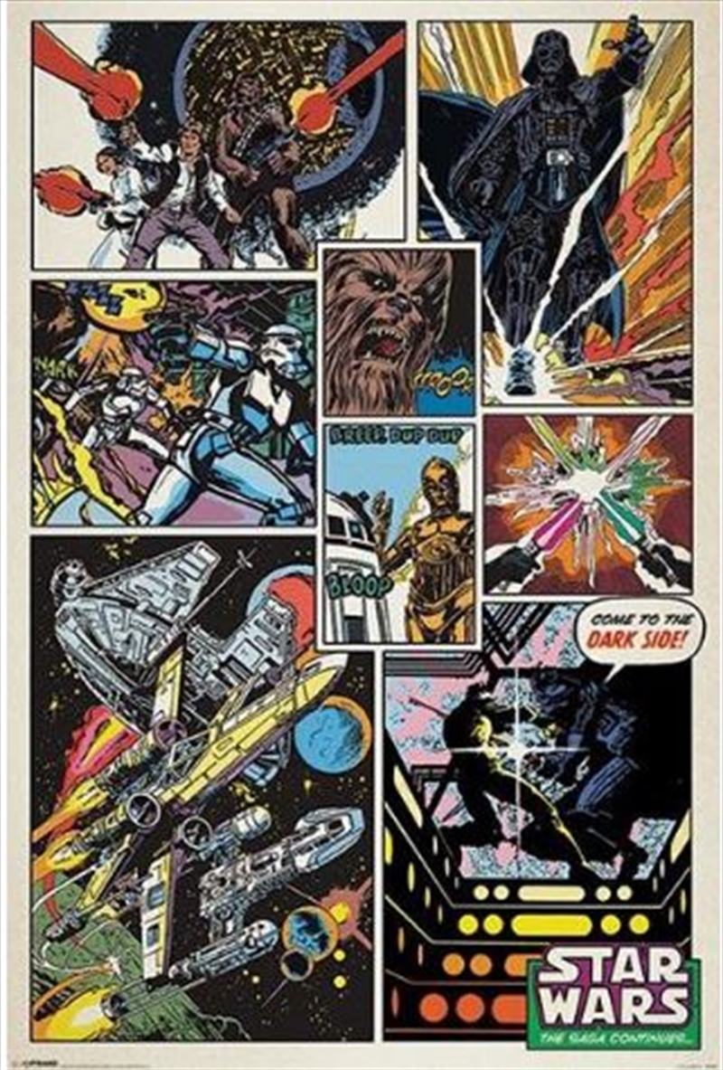 Star Wars - Retro Comic Poster | Merchandise