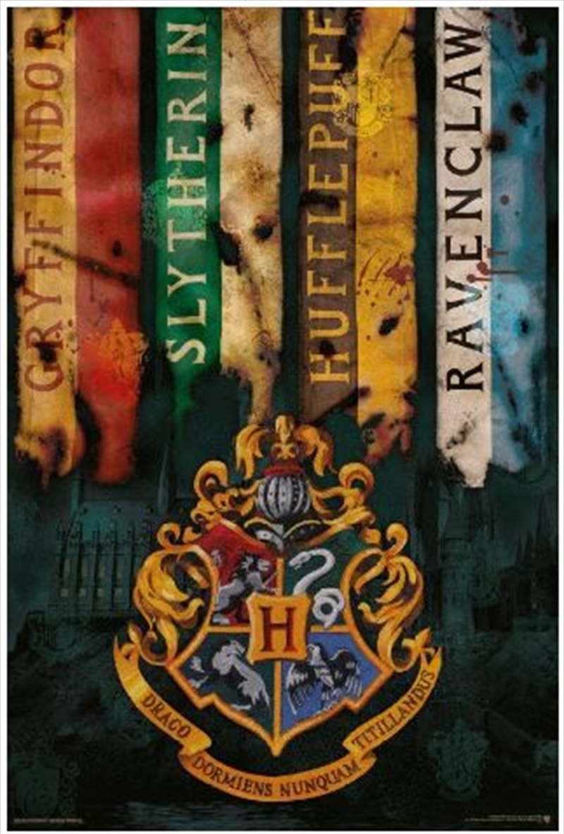 Harry Potter - House Flags Poster | Merchandise