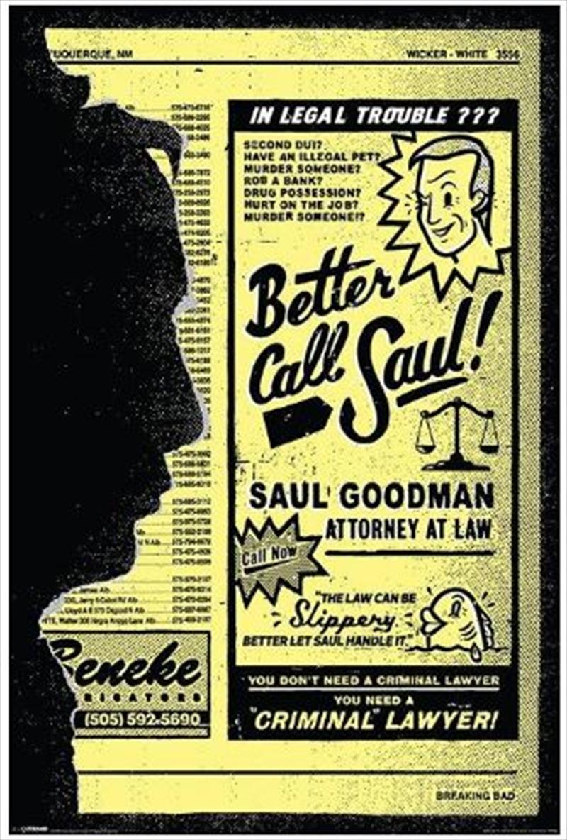 Breaking Bad - Better Call Saul! Poster | Merchandise
