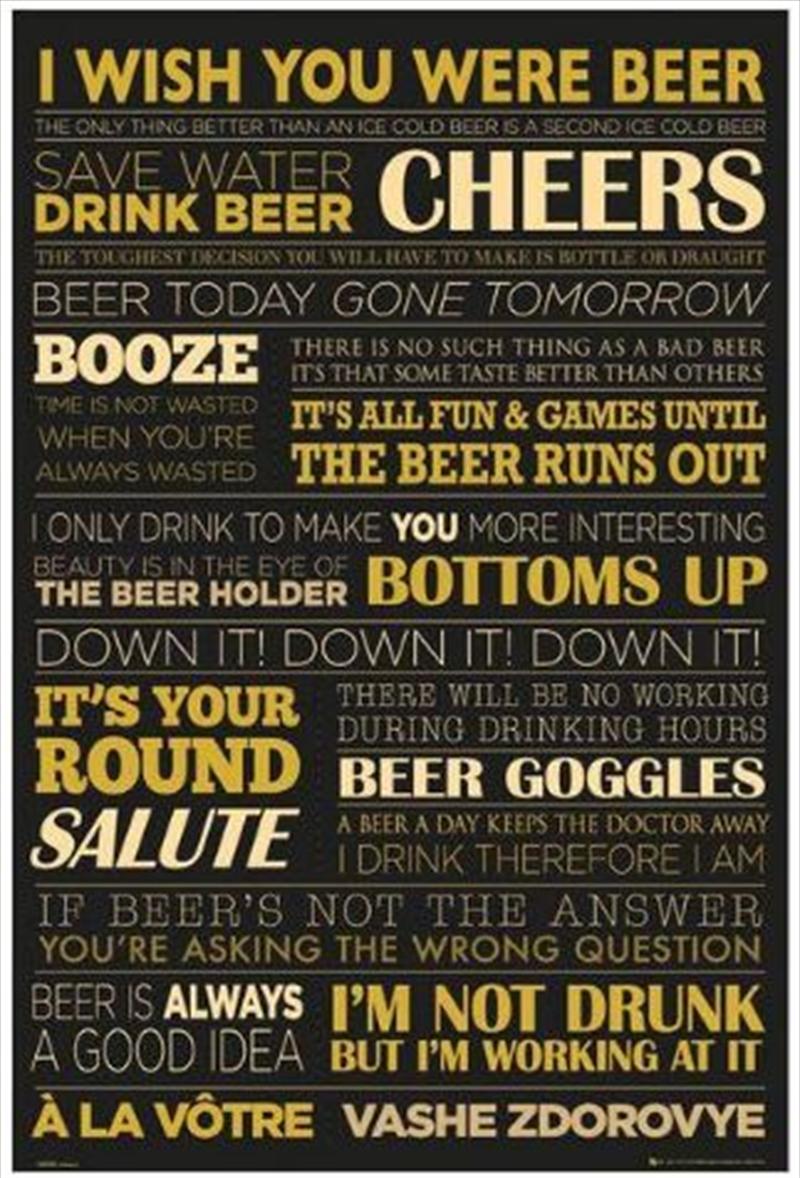 I Wish You Were Beer Poster | Merchandise
