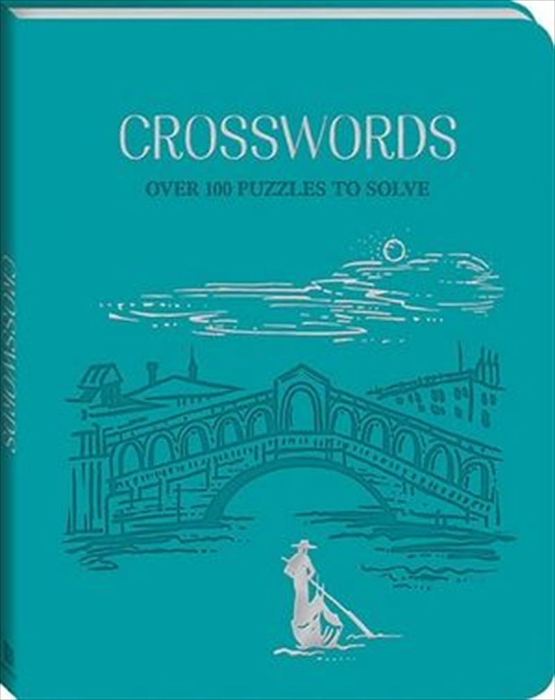 Deluxe Leather Puzzles Crossword | Hardback Book