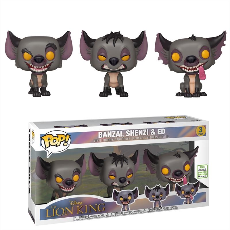 Hyenas Pop! 3pk ECCC 2019 RS | Pop Vinyl