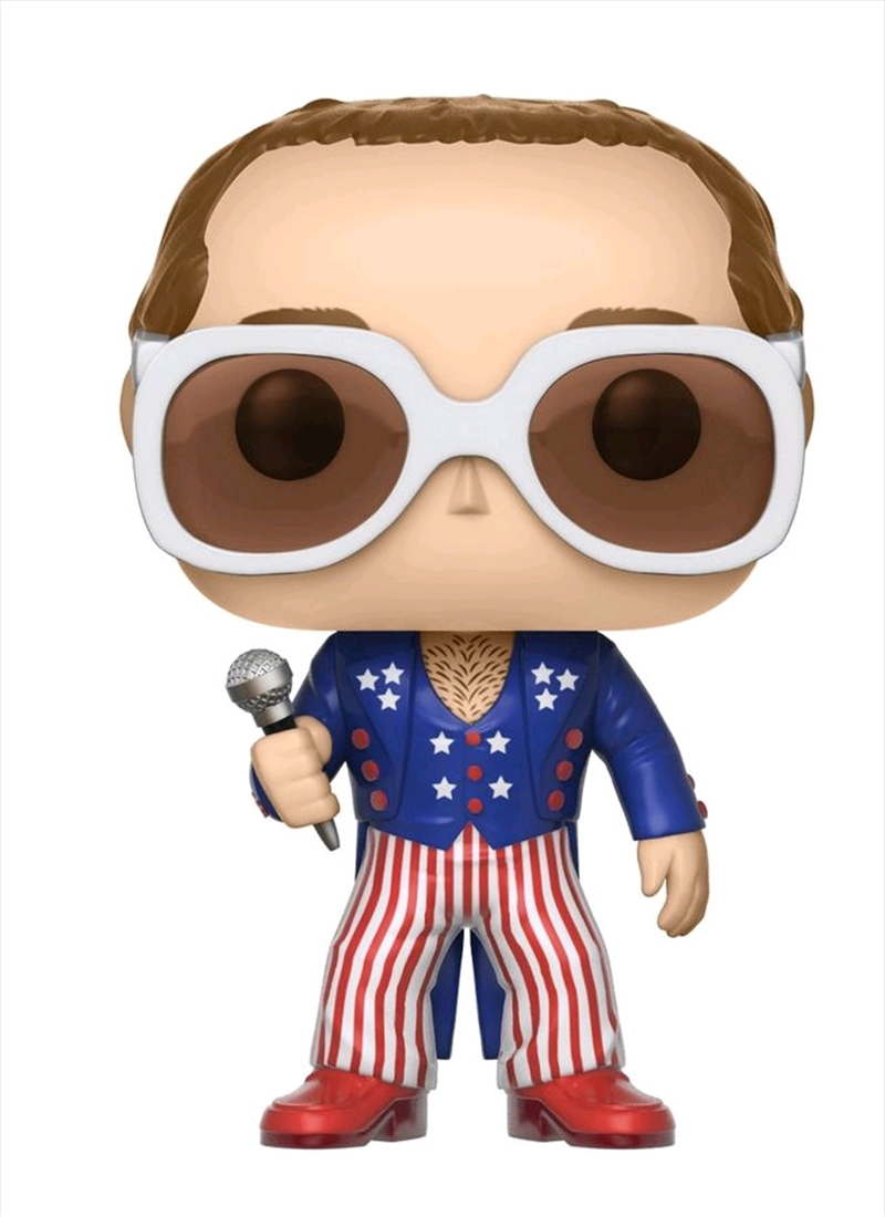 Elton John - Elton John Red, White & Blue Pop! Vinyl | Pop Vinyl