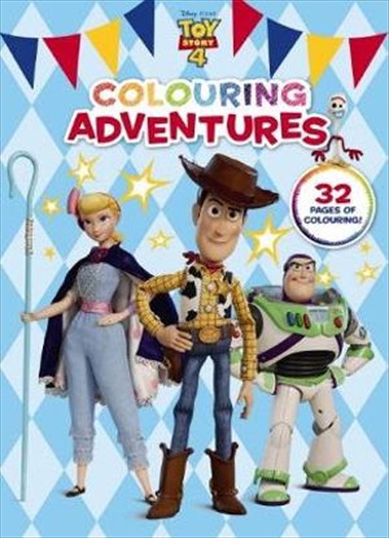 Toy Story 4 : Colouring Adventures | Paperback Book