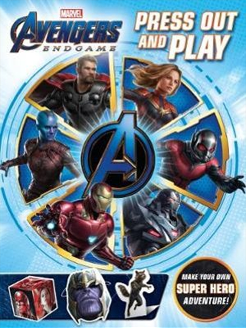 Avengers 4: Press Out and Play | Paperback Book