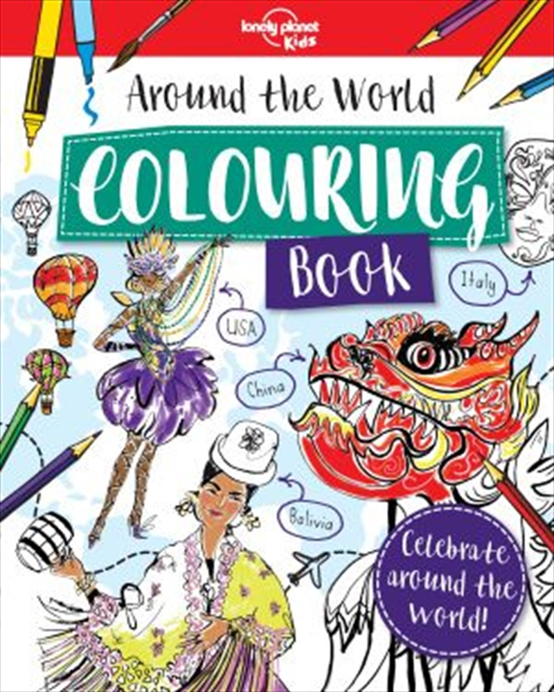Around the World Colouring Book | Paperback Book