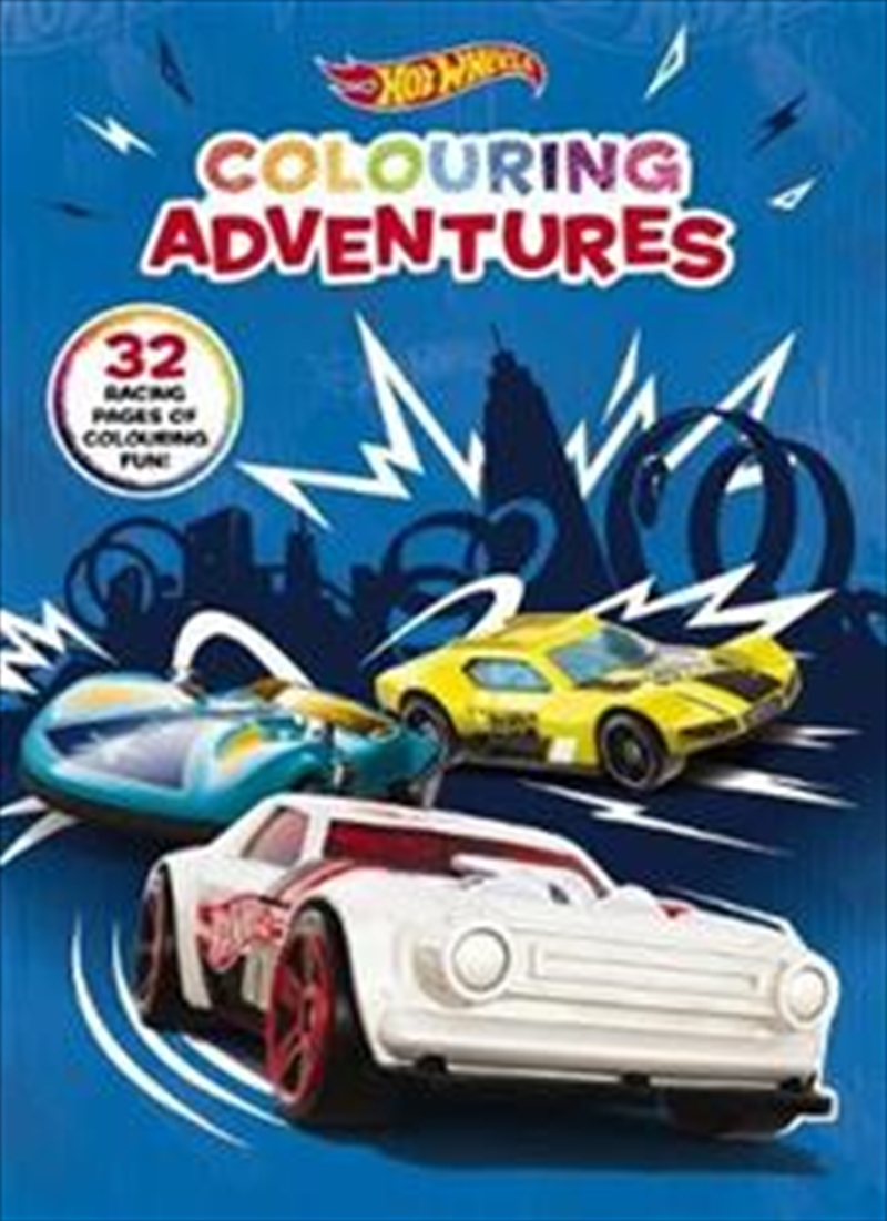 Hot Wheels: Colouring Adventures | Paperback Book