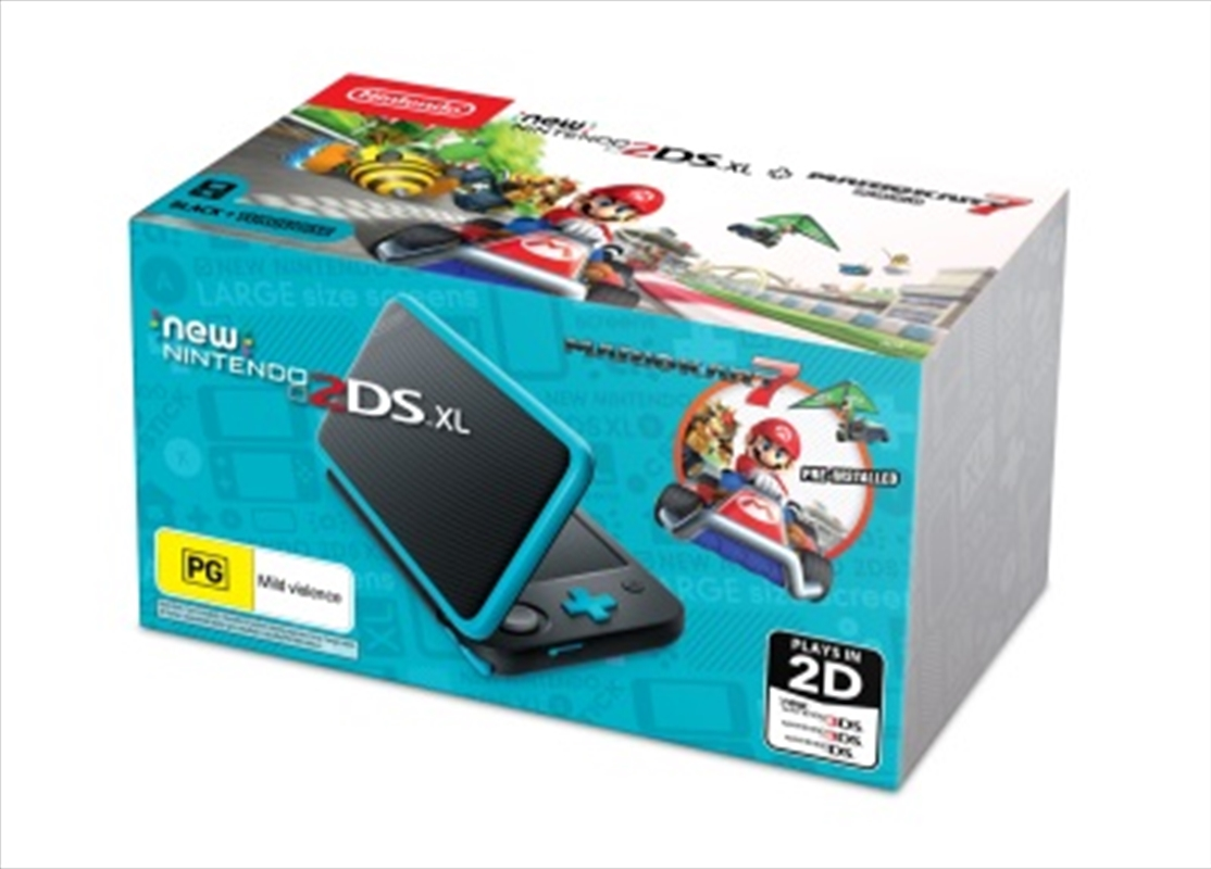 Buy New Nintendo 2ds Xl Console Black With Mario Kart 7 From Gaming