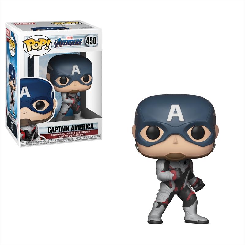 Avengers 4 - Captain America (Team Suit) Pop! | Pop Vinyl