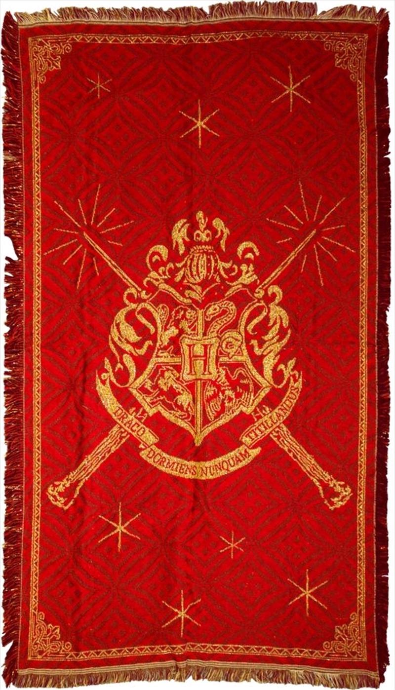Harry Potter - Hogwarts Logo Throw Rug (92x147cm) | Homewares