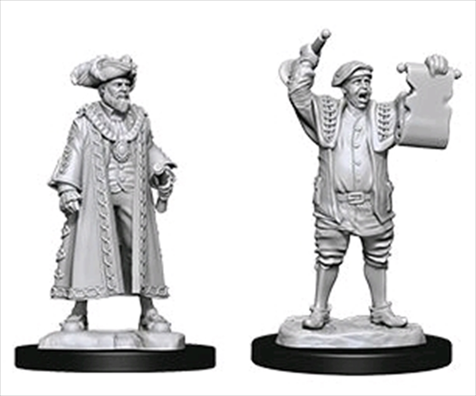 Wizkids - Deep Cuts Unpainted Miniatures: Mayor & Town Crier | Games