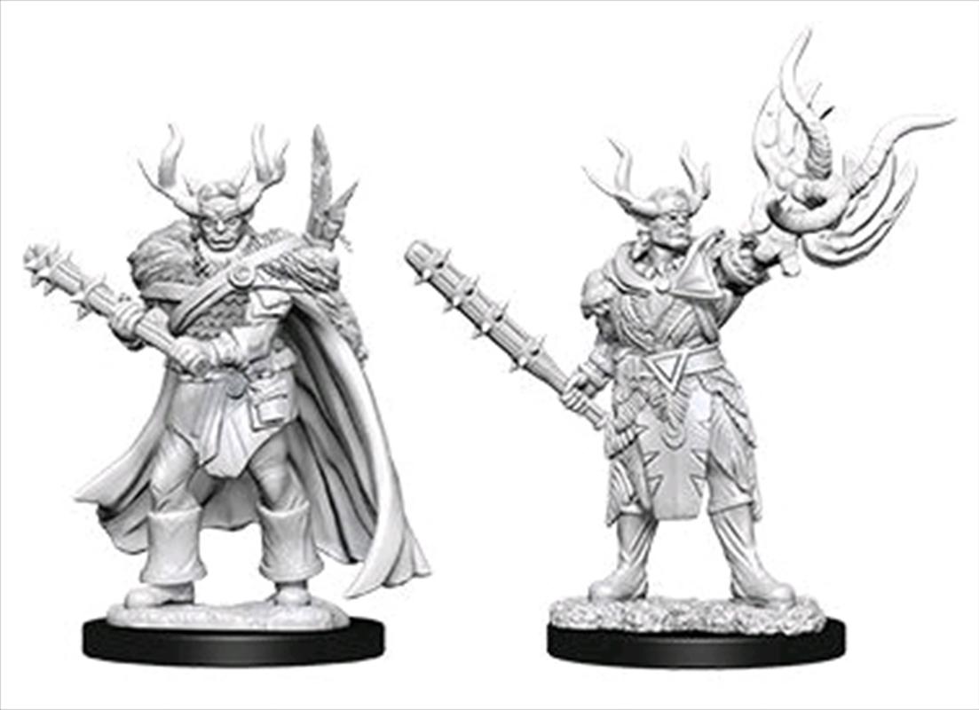 Pathfinder - Deep Cuts Unpainted Miniatures: Male Half-Orc Druid | Games