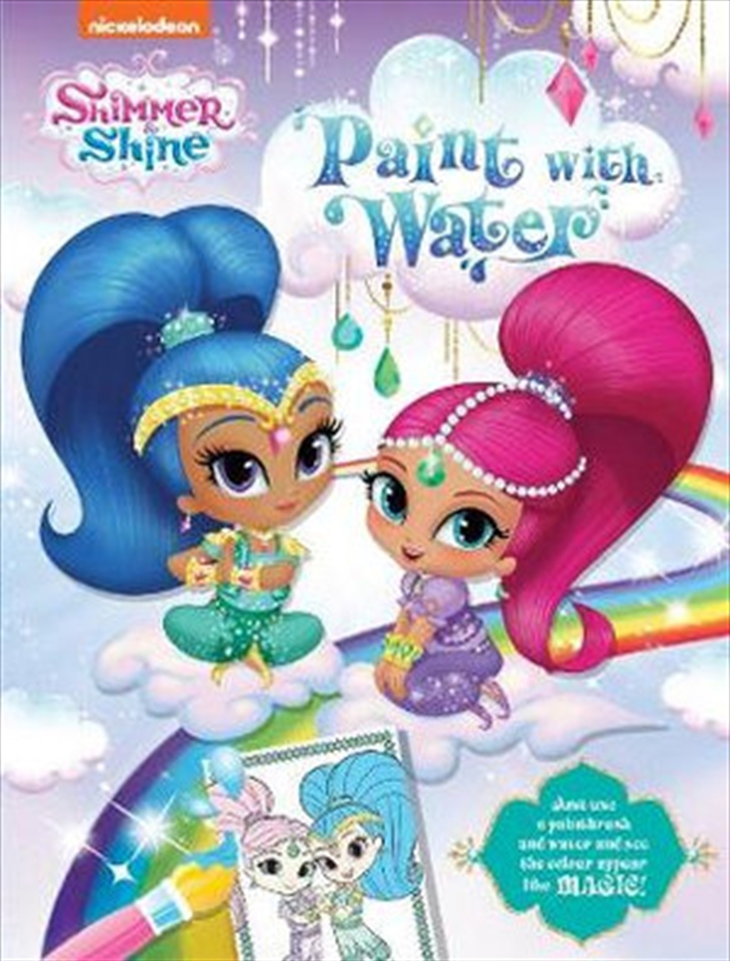 Shimmer and Shine Paint with Water | Paperback Book