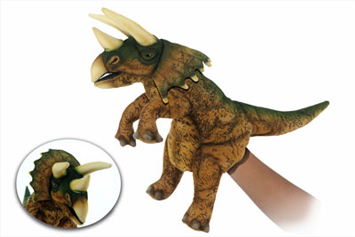 Triceratops Puppet Brown/Green | Toy