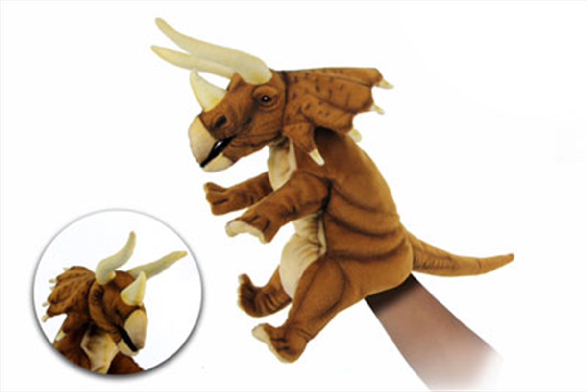 Triceratops Puppet Rust Brown | Toy
