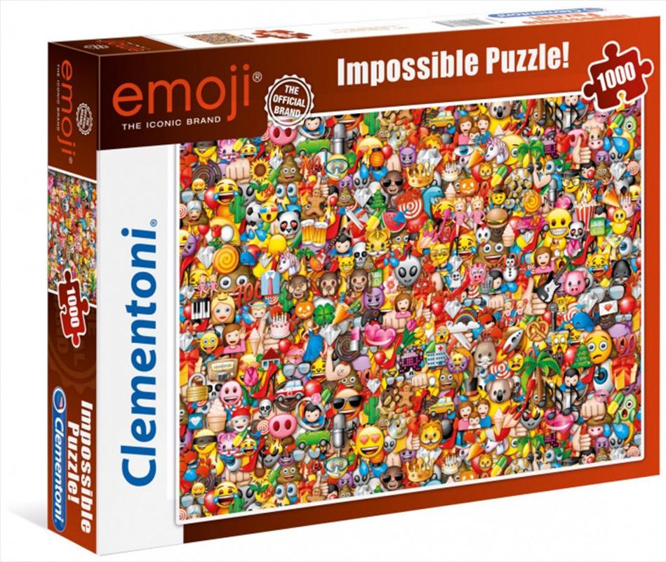 Clementoni Puzzle Emoji Impossible Puzzle 1000 Pieces | Merchandise