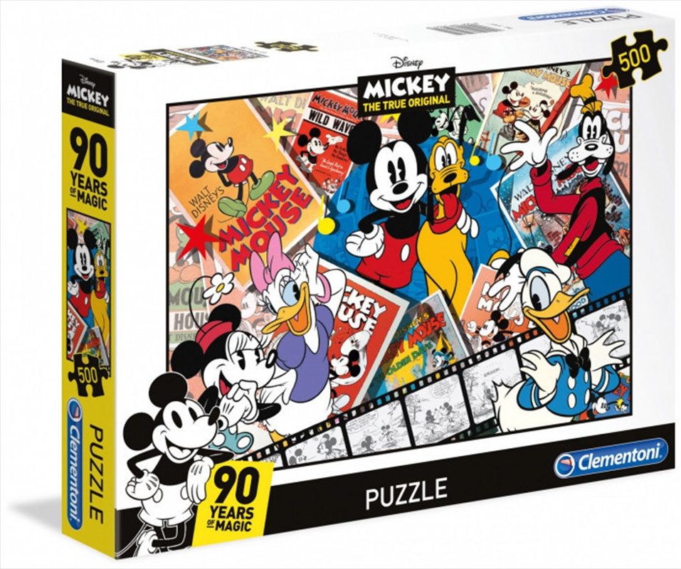 Clementoni Disney Puzzle Mickeys 90th - 500 Pieces | Merchandise