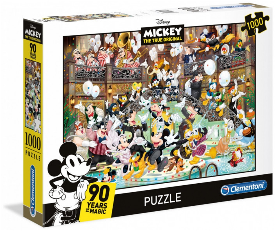 Clementoni Disney Puzzle Mickeys 90th 1000 Pieces | Merchandise
