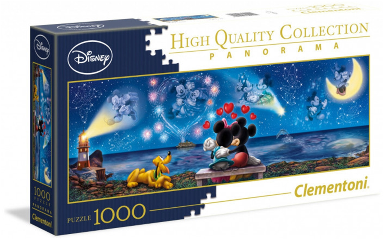 Clementoni Disney Puzzle Mickey and Minnie Panorama 1000 Pieces | Merchandise