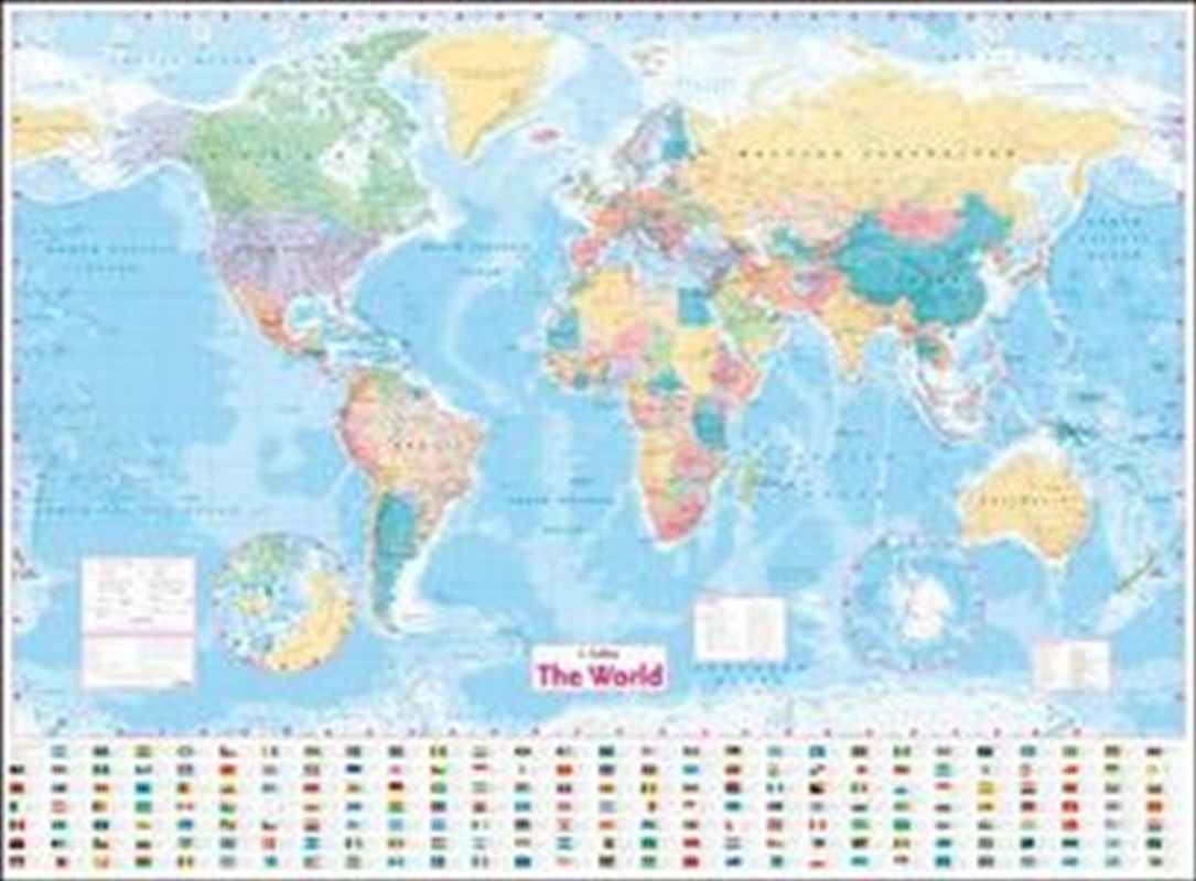 Collins World Wall Laminated Map | Paperback Book
