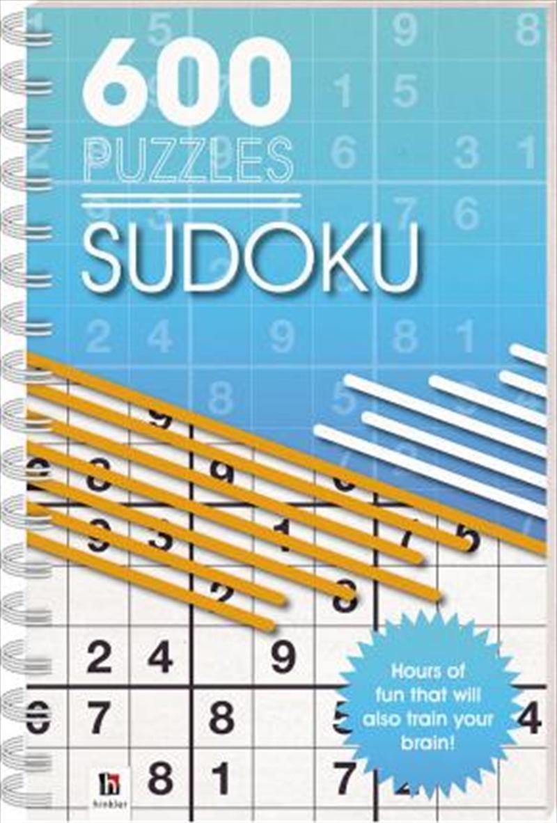 600 Puzzles Sudoku   Paperback Book