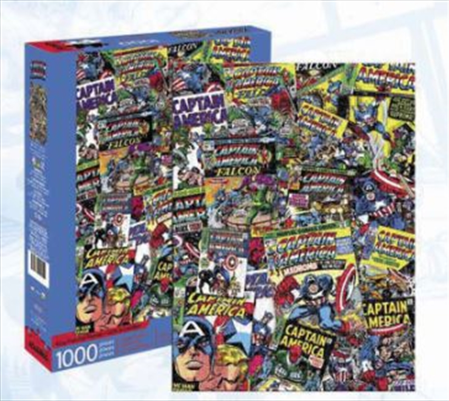 Captain America Collage 1000pc   Merchandise
